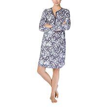 Calida Damen Nachthemd Jodie, Blau (Mystic Blue 428), 40 (Herstellergröße: S)