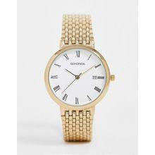 Sekonda – Goldene Armbanduhr mit Datumsanzeige