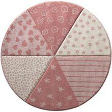 sigikid SK-21962-655 Kinderteppich Round Canon, weiß/rosa rosa/weiß