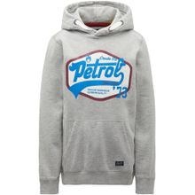 Petrol Industries Sweater himmelblau / grau / feuerrot / weiß