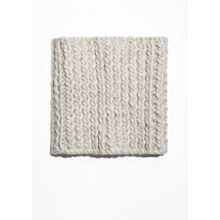 Knitted Wool Snood - White