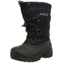Kamik SOUTHPOLE3, Unisex-Kinder Warm gef�tterte Schneestiefel, Blau (NAV), 27 EU (10 US)