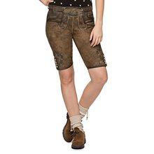 Stockerpoint Damen Trachten Lederhose Hose Piper, Grau (Stein), 40
