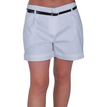 Eyecatch - Kuba Damen Shorts mit Gürtel Frauen Smart Turn Up heiße Hosen