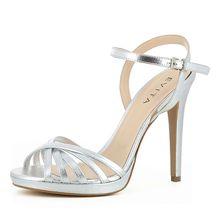EVITA Damen Sandalette EVA Klassische Sandaletten silber Damen