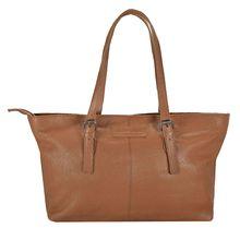 Greenburry Boomer Shopper Tasche Leder 40 cm braun Damen