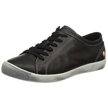 Softinos Damen Isla Smooth Sneaker, Schwarz (Black), 39 EU