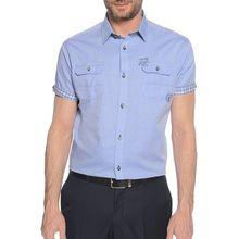 Milano Kurzarmhemd Regular Fit in blau für Herren