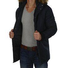JACK & JONES Herren Parka jcoHOLLOW Winterjacke Mantel Jacket Regular Fit (L, Blau (Sky Captian Fit:ONE jcoPEAK))