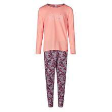 Skiny Pyjama 'Cosy Night Sleep' dunkellila / apricot