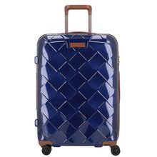 Stratic Leather & More 4-Rollen Trolley 65 cm blau