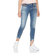 Mavi Damen Skinny Jeans Adriana Ankle, Blau (Mid Fringe Native Denim 25994), W27