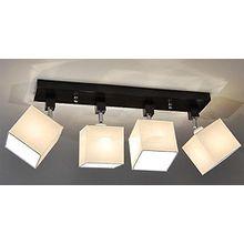 Designer Decken Leuchte Lampe Retro Spot Strahler Salon Bar Theke E27 Power LED Bern 17 (Sockelfarbe: Wenge)