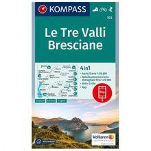 Kompass - Le Tre Valli Bresciane - Wanderkarte 1. Auflage - Neuausgabe