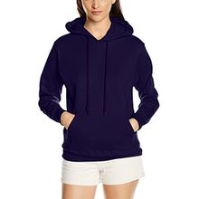 Fruit of the Loom Damen Lady Fit Pullover mit Kapuze, M, Violett - Violett