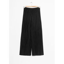 High Waisted Pleated Trousers - Black