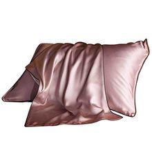 Seide Kissenbezug, CreaTion Mikrofaser Kopfkissenbezug Haar- und Hautpflege Kissenhülle knitterarm, 74 x 48cm (Rosa)