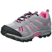 Columbia Childrens North Plains Waterproof Mädchen Trekking- & Wanderhalbschuhe, Grau (Monument, Wild Geranium 036), 30 EU, BC2855