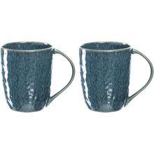 LEONARDO 2er-Set Keramik Tassen, 430 ml blau