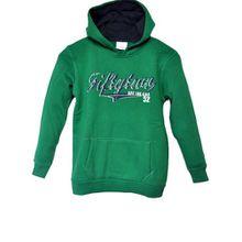 Kinder Hoody Kapuzenpullover & Sweatshirt für Kids Baumwolle in Grün, 134/140