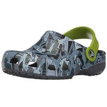 crocs Classic Graphic Clog Kids, Unisex - Kinder Clogs, Grün (Camo), 25/26 EU