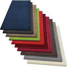 Teppich Läufer Noblesse | flauschig getufteter Flor in modernen Farben | mit GUT-Siegel | Teppichläufer in vielen Farben für Flur, Schlafzimmer, Wohnzimmer etc. | viele Breiten und Längen (80 x 700cm, rot)