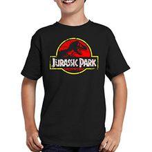 Touchlines Merchandise TLM Jurassic Park Distressed Logo T-Shirt Kinder 152/164 Schwarz