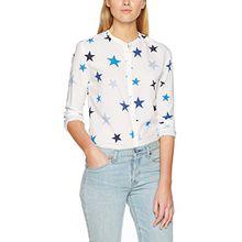 Hilfiger Denim Damen Bluse THDW Blouse L/S 15, Weiß (Navy Blazer/Multi), Small