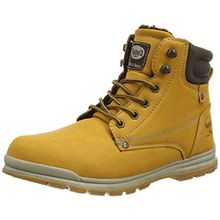 Dockers by Gerli 37WA713-630910, Unisex-Kinder Combat Boots, Gelb (Golden Tan 910), 36 EU