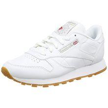 Reebok Damen CL Lthr Sneaker, Weiß (Int-White/Gum), 38.5 EU