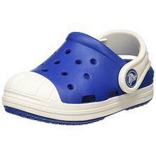 crocs Bump It Clog Kids, Unisex - Kinder Clogs, Blau (Blue Jean/Oyster), 28/29 EU