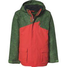 ZIENER Skijacke 'ARIAN' grasgrün / dunkelorange