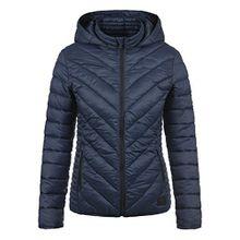 Blend She Sienna Damen Steppjacke Übergangsjacke Jacke Mit Kapuze, Größe:XL, Farbe:Navy (70230)