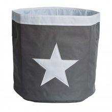 Aufbewahrungskorb Stern Maxi grau/weiß