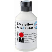 Marabu Serviettenlack und -kleber, matt, 250ml