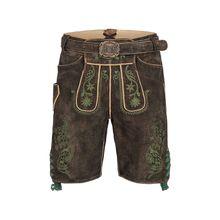 Almsach kurze Lederhose Shorts braun Herren