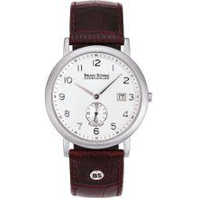 Bruno Söhnle Uhr 'Prato 17-13036-221' weinrot / silber / weiß