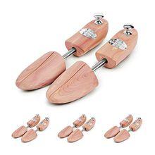 Schlesinger - 4 Paar Premium Schuhspanner aus edlem Zedernholz für Damenschuhe und Sneaker. Modell Königin. Größe 36/37. Silber Knauf.