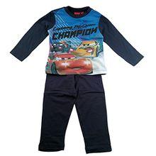 Disney Cars Lightning McQueen Kinder Langes Pyjamas / Nachtwäsche (Marineblau , 4 Jahre)
