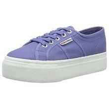 Superga 2790 Linea Updown Flatform Damen Sneaker,Blau (Blue Velvet),40 EU