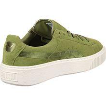 Puma Damen Sneakers Suede Platform Oliv (45) 38,5