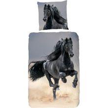 Kinderbettwäsche Pferd, Renforcé, 135 x 200 cm