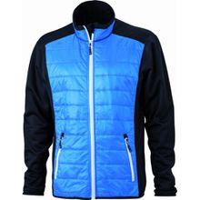 James & Nicholson Herren Jacke Jacke Stretchfleece Men's Hybrid Jacket blau (black/cobalt/white) Small