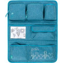 Auto-Rückenlehnentasche 4Kids, Wrap-to-Go About Friends blau