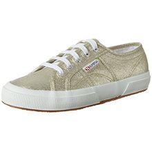 Superga Damen 2750 Lamew Sneakers, Platinum (Platinum), Gr. 42
