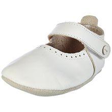 Bobux Unisex Baby Mary Jane Weiß mit Pünktchen Slipper, Weiß (Weiß), XL