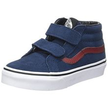 Vans Unisex-Kinder Sk8-Mid Reissue V Sneaker - Mehrfarbig (Suede/Dress Blues/Madder Brown) - 34.5 EU (2.5 UK)