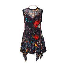 DIESEL Kleid 'D-Lyan Dress' mischfarben / schwarz