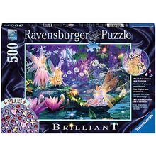 Puzzle 500 Teile, 49x36 cm, Brilliant, mit Dekosteinen, Im Feenwald
