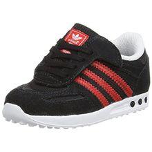 adidas Originals Unisex Baby LA Trainer CF Sneaker, Schwarz (Core Black/Lush Red S16-St/Ftwr White), 23 EU